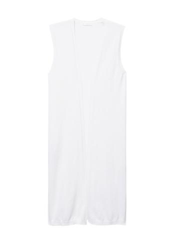 MANGO KIDS white Cotton Long Gilet 2A136KA1FBD596GS_1
