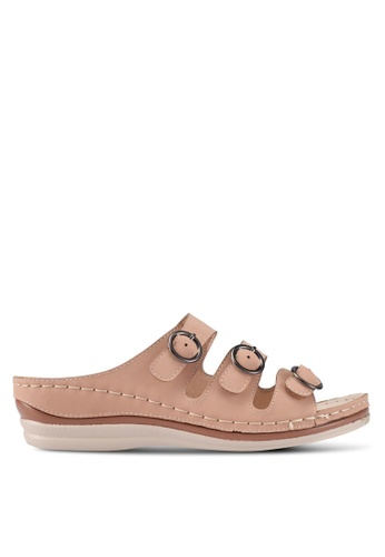 Spiffy orange Soft and Comfort Series Slip-on Wedges 74E2ESH20559D7GS_1