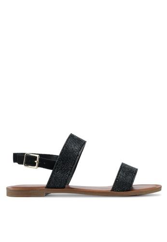 ALDO black Hyginus Flat Sandals 805D8SH4DB2A4CGS_1