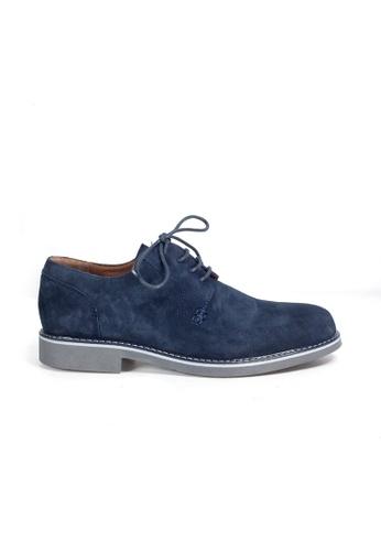 Shu Talk navy eMocs Men Suede Leather Derby Shoes DAD20SH36D8FEEGS_1