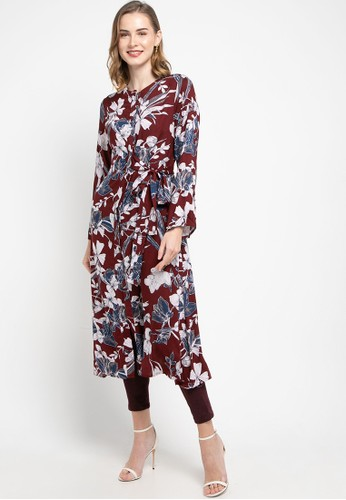 Covering Story red Vicky Tunic - C 1BDABAA63FD8FAGS_1