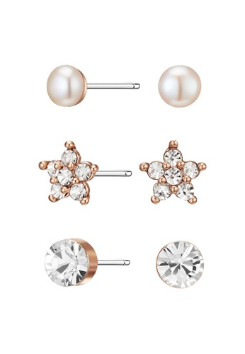 91012d701a366 Rose Gold Janey Earrings Set with Swarovski® Crystals