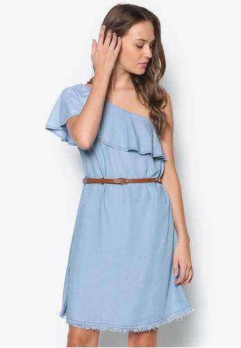 單肩層次洋裝,esprit hk分店 服飾, 服飾