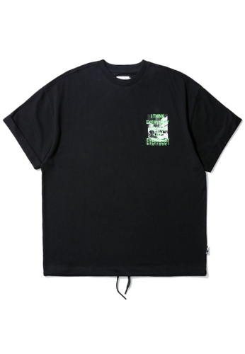 izzue black Loose graphic tee 9FC30AA7551A34GS_1