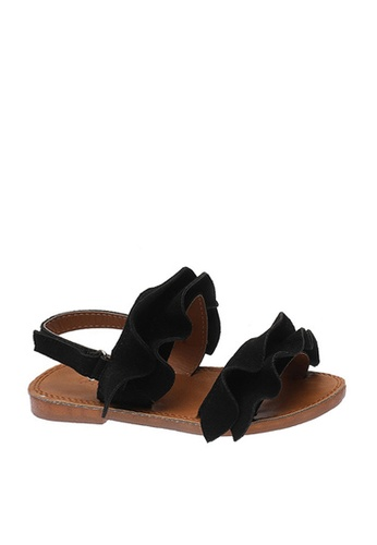 Twenty Eight Shoes black VANSA Ruffle Sandals  VSK-S185 BF7C2KS0682A23GS_1
