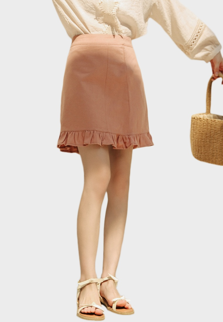 Mini Skirt Shopsfashion Ruffles brown End 84qxHSw