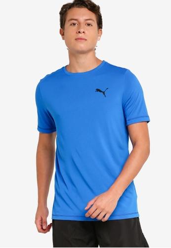 Puma blue Active Small Logo Men's Tee 20318AA0FC959BGS_1