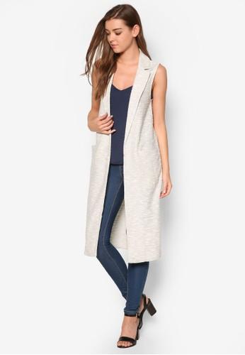 Cut & Sew 長版無袖外套、 服飾、 外套NewLookCut&Sew長版無袖外套最新折價