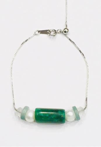 Shinju Pearls Jade with Pearl Adjustable 925 Sterling Silver Bracelet 66776AC6BE8C42GS_1
