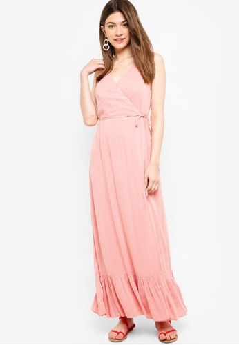 Something Borrowed pink Wrap Camisole Maxi Dress 33A5DAA2E9B764GS_1