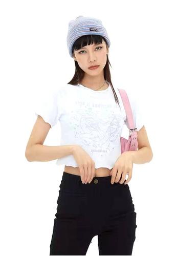 Twenty Eight Shoes Slim Embroidered Short Sleeve T-shirt HH-N0035 93826AA580137CGS_1