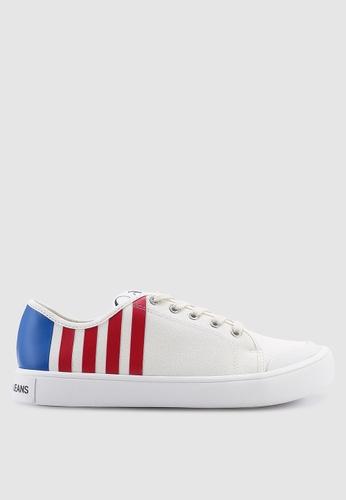 Calvin Klein 白色 撞色帆布運動鞋 7DFB9SH4715F7DGS_1