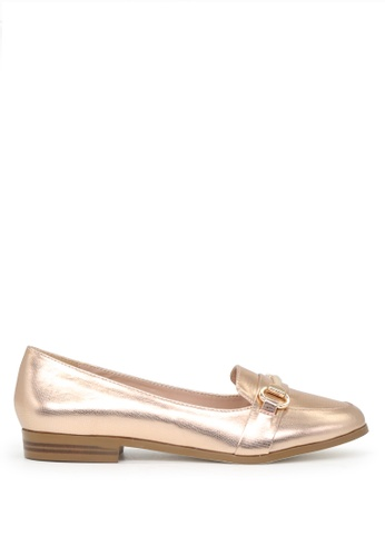 London Rag gold London Rag Berry Women's Rose Gold Synthetic Flat Ballets SH1632 9C330SH7F438DDGS_1