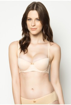 Double Purpose Padded Bra With Bust Enhancing Removable Pads With Underwire