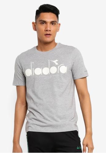 Grey Diadora Men/'s Graphic T-Shirt