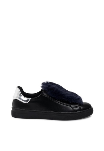 Andre black ADLEXIE Faux Shearling Trimmed Sneakers AN324SH0FJWFSG_1