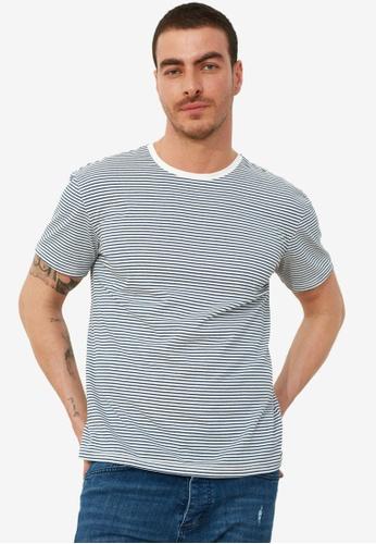 Trendyol blue Striped T-Shirt A5479AA7FB11E1GS_1