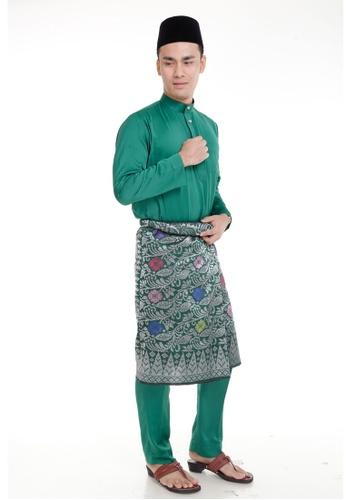 Amar Amran green Baju Melayu Classic AM362AA91MIUMY_1