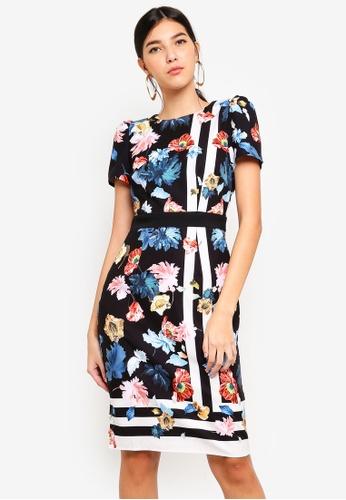 Little Mistress multi Scarf Print Dress 33E9FAAC2491CFGS_1