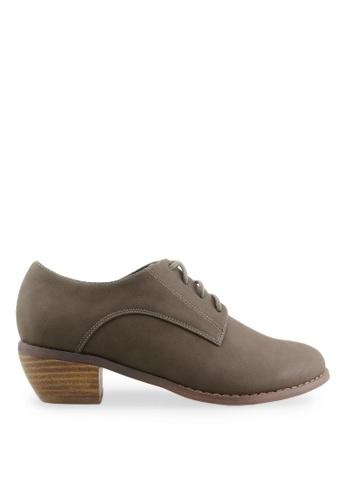 Footspot brown FOOTSPOT - Minimal Lace-up Oxford Shoes FO296SH2VLLXHK_1