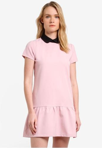 ZALORA pink Frill Hem Dress DE7CAAAA812B47GS_1