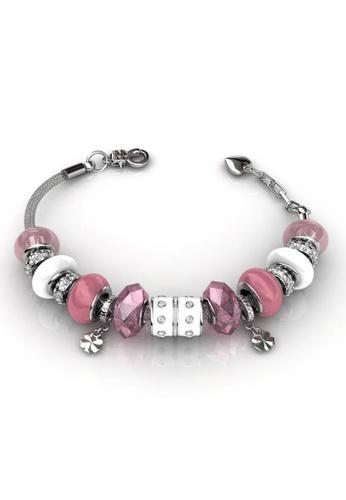 Her Jewellery multi Swarovski® Crystals - Charm Bracelet (Pink) Her Jewellery HE581AC0RCBEMY_1