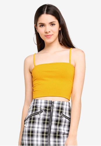 Factorie yellow Ribbing Cami Top CA42AAA7A36073GS_1