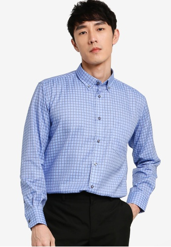 John Master blue John Master Men Timeless Regular Fit Long Sleeve Shirt - Blue 7078801-L5 0DF60AACB6FB56GS_1