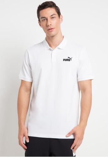 PUMA white Sportstyle Core Essentials Pique Polo 5E511AA8311B18GS_1