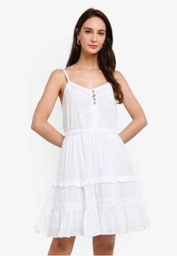 Brave Soul white Lace Insert Strappy Vest Dress C77C2AA8A7A32AGS_1