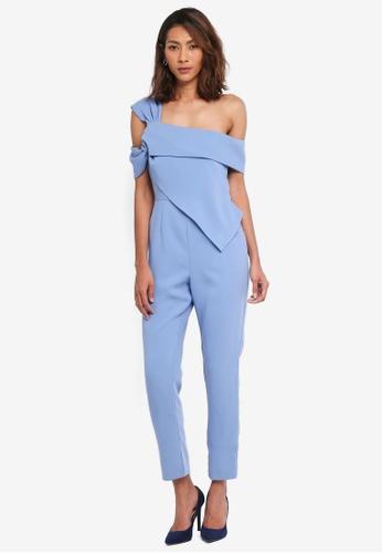 Lavish Alice blue Twisted Asymmetric Jumpsuit LA457AA0SSR1MY_1