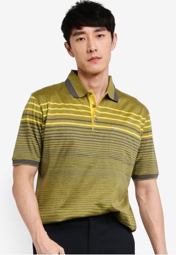 John Master yellow John Master Casual Regular Fit 80/2 Mercerised Cotton Short Sleeve  Polo - Yellow 8059615-Y5 83594AA0B1827EGS_1