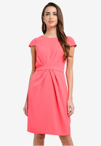 J.Crew pink Luz Tie-Front Lucky Crepe Dress 8786FAA56FD2A9GS_1