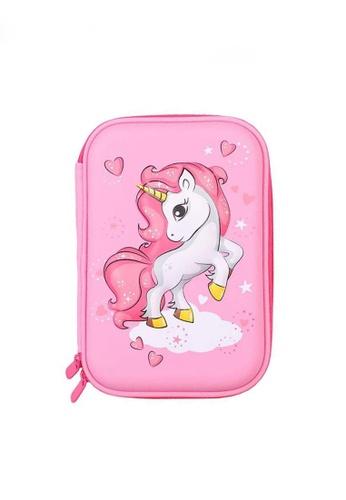 Twenty Eight Shoes pink VANSA 3D Cartoon Pencil Case  VAK-A0021 327A9KC3B2192FGS_1