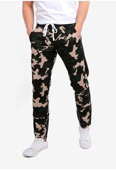 cc3c90e8669 Cotton On green Urban Side Stripe Track Pants 25754AAEAF1001GS 1