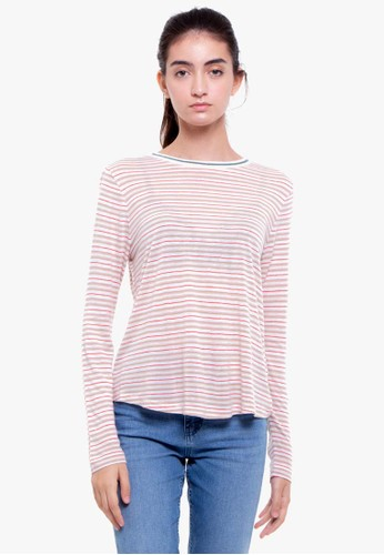 MARKS & SPENCER red Ls Str Knit Tee C8D49AAA29983FGS_1