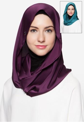 二esprit台北門市入綢緞頭巾, 飾品配件, 圍巾及披肩
