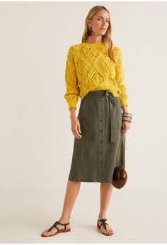 8cab6e7a61f 47% OFF Mango Striped Linen-Blend Skirt S  59.90 NOW S  31.90 Sizes XS S M L
