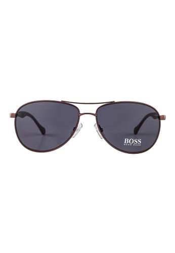 Hugo Boss brown HUGO BOSS Aviator Brown Sunglasses 0824S HU898AC35OWIMY_1