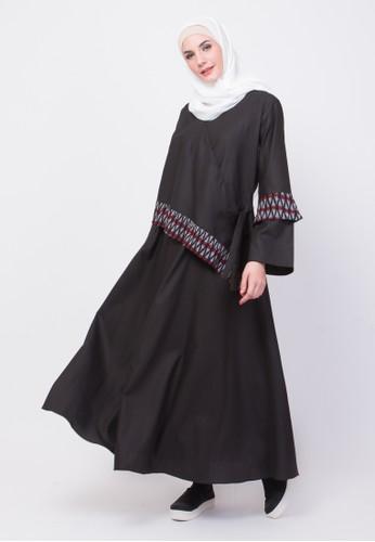Allev black Wardah Dress - Hitam 919ECAA952E431GS_1