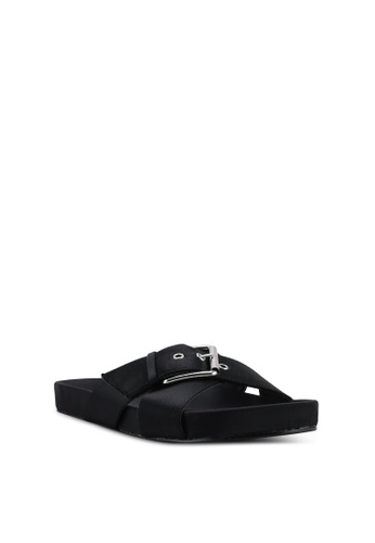 9d12e9ca6b Shop NA-KD Buckle Detail Satin Slippers Online on ZALORA Philippines