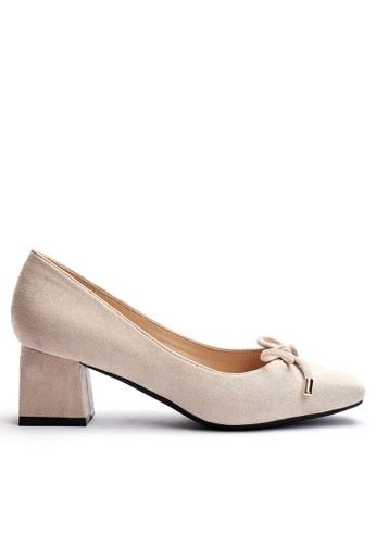 Twenty Eight Shoes 小方頭羊猄絨小踭鞋1280-2 3B194SHDA5BBBBGS_1