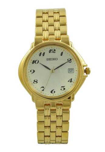 Seiko gold Seiko Jam Tangan Pria - Gold White - Stainless Steel - SKK030 SE382AC18QGFID_1