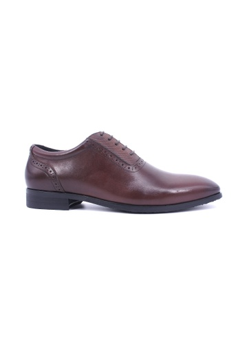 Hanson Bootmaker brown Hanson Bootmaker Oxford Lace Up- Brown HA656SH0GHVSSG_1