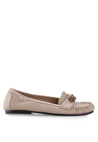 Vencedor beige Vencedor Luna Flat Shoes in Nude VE205SH57KAGID_1