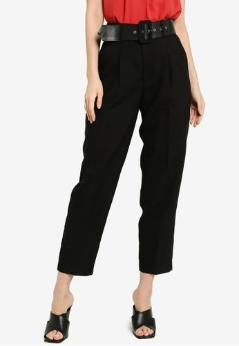 FORCAST black Harlee High-Waist Belted Pants 6564CAA21E4B8AGS_1