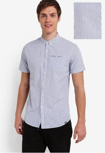 細直條紋短袖襯衫, 服飾esprit台灣官網, 服飾
