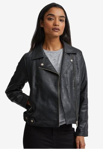 Dorothy Perkins black Petite Black Pu Biker Jacket 99389AA23CE6E8GS_1