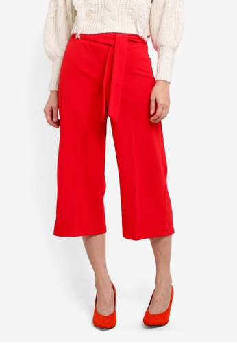 Miss Selfridge red Petite Culotte Trousers MI665AA0SHVCMY_1