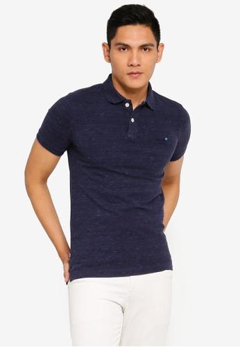 SUPERDRY blue Classic Pique Short Sleeve Polo Shirt - Vintage Logo Emblem 97C70AA0B9456FGS_1